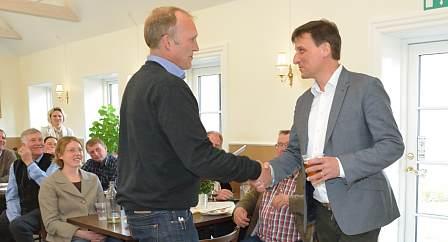 Karsten Deibjerg modtager Økokøds skulderklap